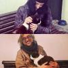 """Mira, @davidbroc, """"Es gat de Port Doguer"""" con mi chica @roseramills y conmigo…"""