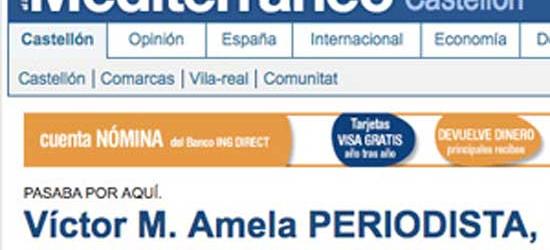 Entrevista en El periódico Mediterráneo de Castellón