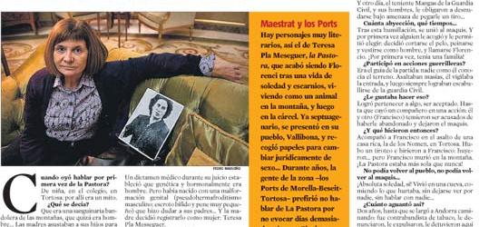 La Contra | La Vanguardia: Alicia Giménez Bartlett, novelista, última ganadora del premio Nadal