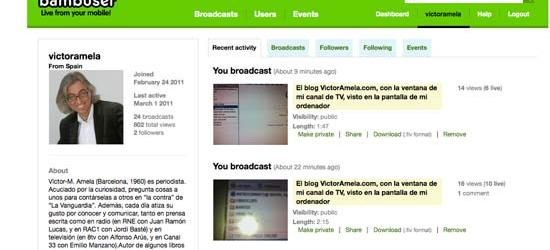 Televisión dentro de televisión... Víctor Amela Channel!!!!