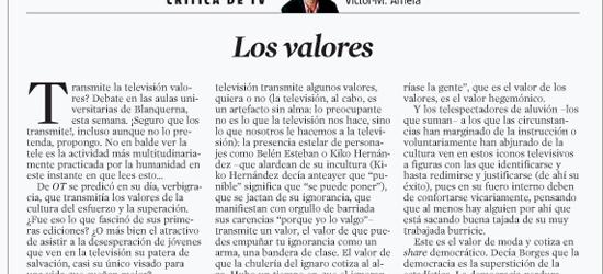 CRÍTICA DE TV | Los valores
