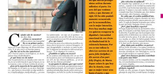 La Contra | La Vanguardia: Marta Espar, parturienta que lo sabe todo del parto feliz
