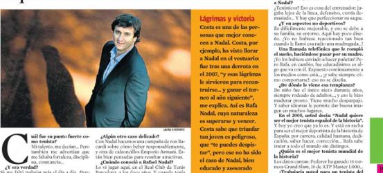 La Contra | Carles Costa, mánager de Rafa Nadal, el mejor tenista del mundo