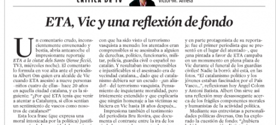 CRÍTICA DE TV | ETA, Vic y una reflexión de fondo