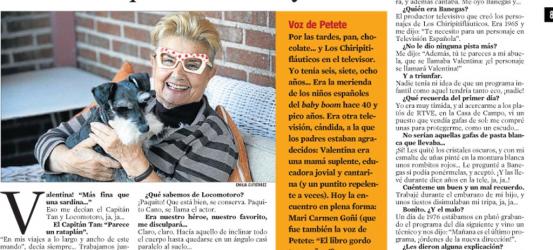 La Contra | Mari Carmen Goñi: Valentina de Los Chiripitifláuticos