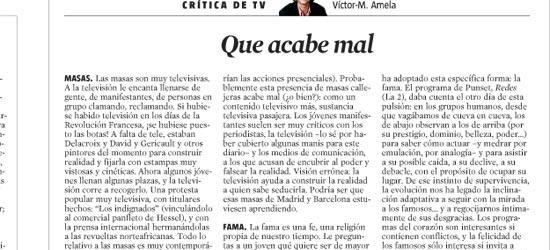 CRÍTICA DE TV | Que acabe mal