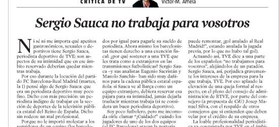 CRÍTICA DE TV | Sergio Sauca no trabaja para vosotros
