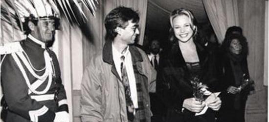 Víctor Amela con Verónica Blume en 1993