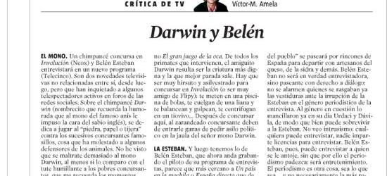 CRÍTICA DE TV | Darwin y Belén