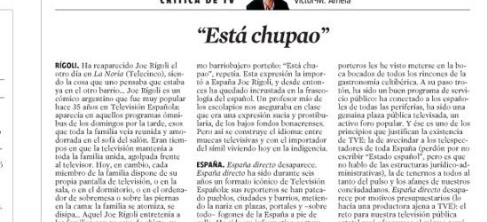 CRÍTICA DE TV |