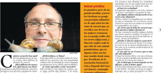 La Contra | José Antonio Marcelo, criador de caracoles