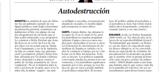 CRÍTICA DE TV | Autodestrucción