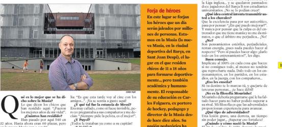 La Contra | Carles Folguera, director de la Masia del Barça:´Tu destino te lo marcas tú´: eso enseñamos en la Masia
