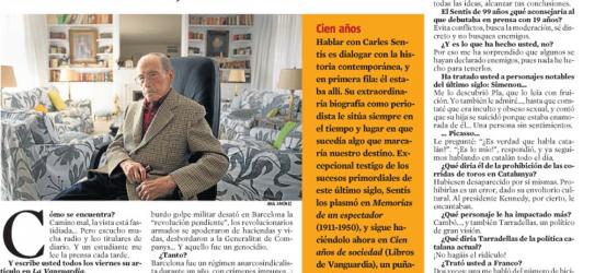 La Contra 31-11-2010 | Carles Sentís, periodista: 'Evita conflictos, busca la moderación, sé discreto'