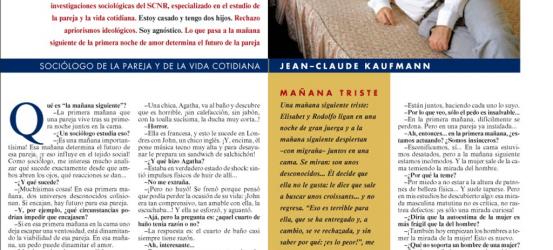 La contra | Jean-Claude Kaufmann, sociólogo de la pareja y de la vida cotidiana: 'El amor nace a la mañana siguiente'