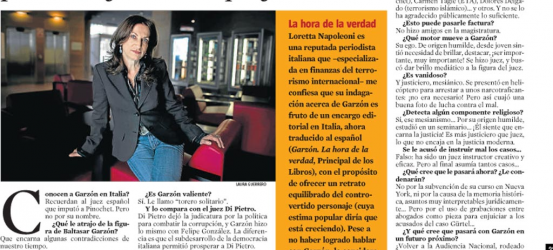 La Contra   Loretta Napoleoni, ha investigado la figura de Garzón