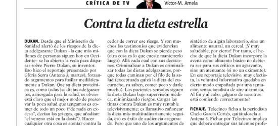 CRÍTICA DE TV | Contra la dieta estrella
