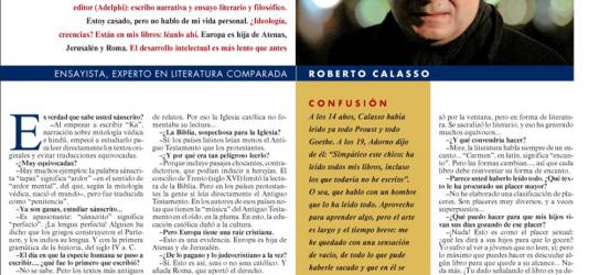 La Contra | Roberto Calasso, ensayista, experto en literatura comparada: 'Los viejos dioses siguen aquí'