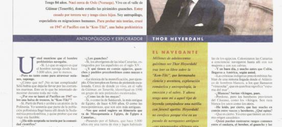 La Contra | Thor Heyerdhal, antropólogo y explorador: 'Los vascos llegaron a América antes que Colón'
