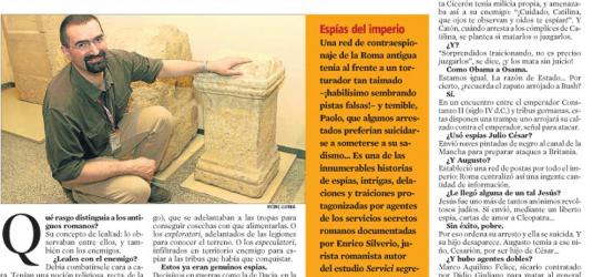 La Contra | Enrico Silverio, experto en la antigüedad romana