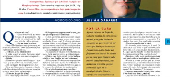 La Contra | Julian Gabarre, morfopsicólogo: 'Tu cara expresa tu alma: tu cara eres tú'