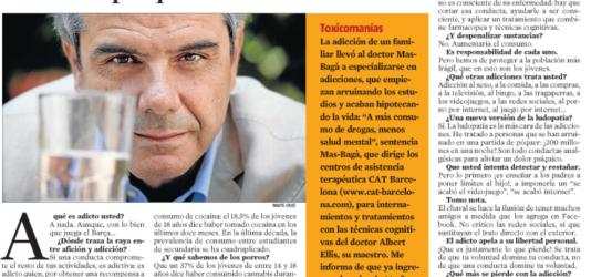 La Contra | Manuel Mas-Bagà, psiquiatra especialista en adicciones: 'Toda adicción busca aliviar un dolor psíquico oculto'
