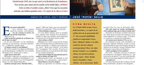 La Contra | Pepín Bello, amigo de Lorca, Dalí y Buñuel