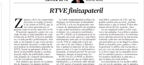 CRÍTICA DE TV | RTVE finizapateril