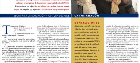La Contra   Carme Chacón: 'Mi abuelo fue de la quinta del Biberón'