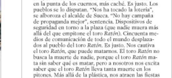 CRÍTICA DE TV | El toro 'Ratón'