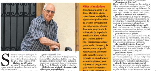La Contra | Joan Guasch Martí, que cruzó el Ebro la medianoche de 1938