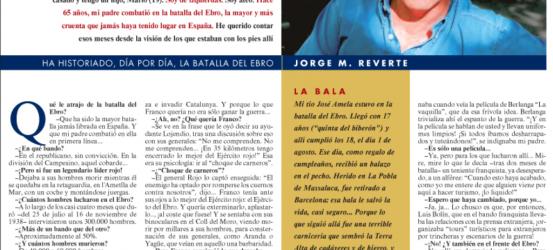 La Contra | Jorge M. Reverte, ha historiado, día por día, la batalla del Ebro: 'Franco fue un salvaje en la batalla del Ebro'