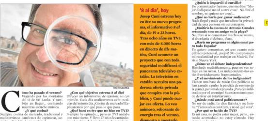 La Contra | Josep Cuní, periodista: 'Yo procuro ser impertinente: basta del miedo al qué dirán'