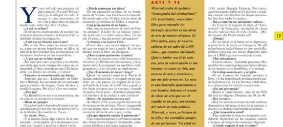 La Contra | Luis Monreal y Tejada, humanista, experto en historia del arte: 'Soy una persona del siglo pasado'
