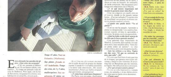 La Contra | Miquel Barceló, pintor y escultor: 'Me gusta que me comparen con un asesino'