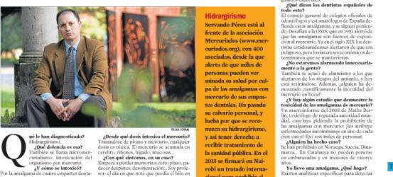 La Contra | Servando Pérez Domínguez, micromercuriado: 'El mercurio de mis empastes dentales me intoxicó'