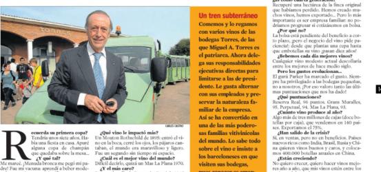 Miguel A. Torres, presidente de las bodegas Torres | 'El vino no podría mejorar si cotizase en bolsa'