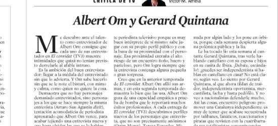 CRÍTICA DE TV | Albert Om y Gerard Quintana
