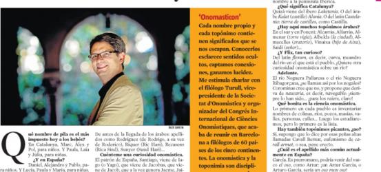 La Contra | Albert Turull, especialista en onomástica: Si te llamas Arturo García, vienes a ser 'un oso muy oso'