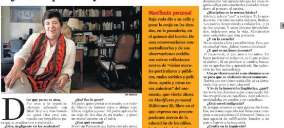 La Contra | Ana María Moix, escritora: 'Por temor a enfadar a los hijos, los padres ya no educan'