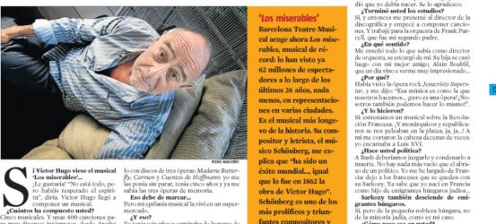 La Contra   Claude-Michel Schönberg, compositor y letrista de musicales: 'Viví mi epifanía musical en un supermercado'