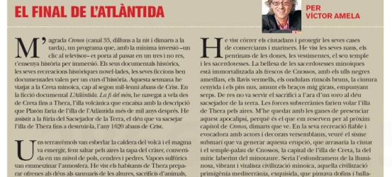 TvManía | El final de l'Atlàntida, per Víctor Amela