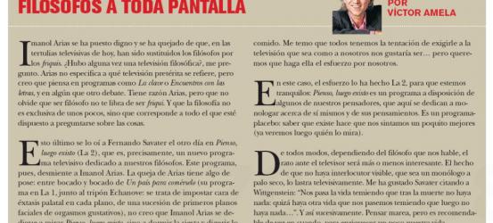 TvManía | Filósofos a toda pantalla