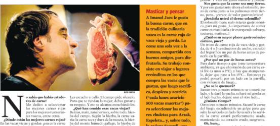 La Contra 24-12-2010 | Imanol Jaca, catador de carnes: 'Acaricio las carnes de 500 vacas cada semana'
