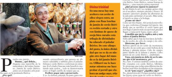 La Contra 13 junio 2008 | Miguel Ullibarri, promotor del jamón ibérico: 'El cerdo ibérico es un olivo con cuatro patas'