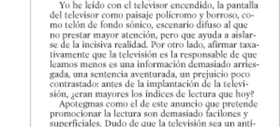 Crítica de TV | Un libro se suicida
