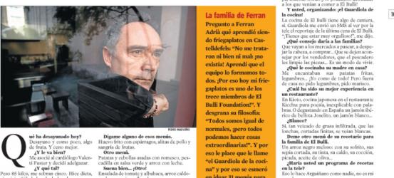 La Contra | Ferran Adrià, cocinero: 'El cocinero cocina en su restaurante, no en casa'