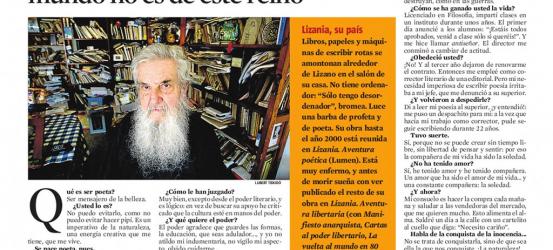La Contra | Jesús Lizano, poeta místico y libertario: 'Soy anarquista poético: mi mundo no es de este reino'