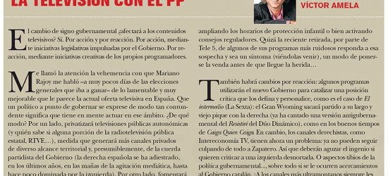 TvManía | La televisión con el PP