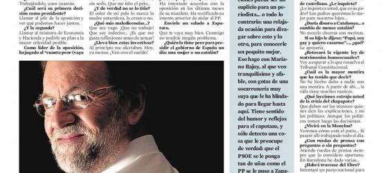 20-N LA ENTREVISTA | Mariano Rajoy: 'No hay pócimas milagrosas: no sé cuántos parados habrá en un año'